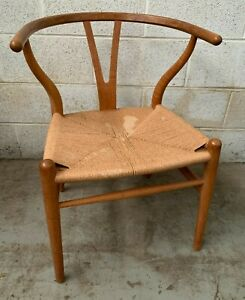 Hans J Wegner Carl Hansen Vintage Bone Arm Chair - Mid Century Danish Modern