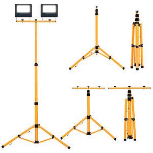 Strahler Stativ Teleskop Stahlstativ für Baustrahler LED Fluter Arbeitslampe