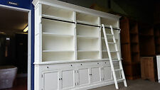 NEW 2.55M FRENCH PROVINCIAL LIBRARY BOOKCASE SHELF DISPLAY CABINET & LADDER