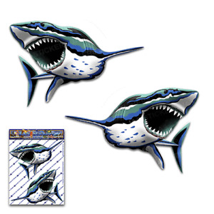 SHARK Animal Fish Surf Large Sticker Pack Decal Car Boat-ST059_3-Australia Made