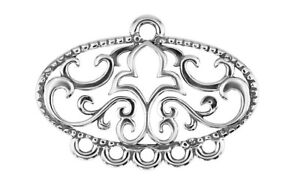 Sterling silver 925 glam ornament glamour pendant charm connector w84