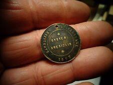 Ancienne Médaille Exposition Universelle 1867 Systèm Américain Propreté de Paris