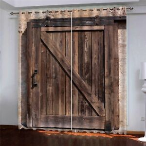 Window Curtain Wooden Vintage Texture Architectural Window Drapes