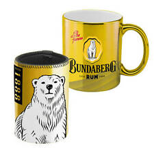 BUNDABERG RUM METALLIC COFFEE MUG AND CAN COOLER GIFT BOXED
