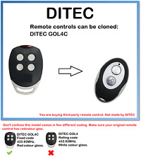 DITEC GOL4C Universal Remote Control Duplicator 2-Channel 433.92MHz.