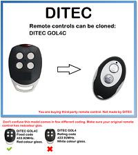 Control Remoto Universal DITEC GOL4C Duplicadora 2 canales 433.92MHz.