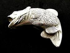 Big Mouth Bass Pewter Belt Buckle by KEV Made in USA 6514 New Old Stock