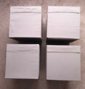 4 Brown Ikea Kallax Unit Drona box boxes storage VGC