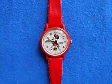 Lorus Disney Minnie Mouse Red Quartz Watch Water Resistant New Battery