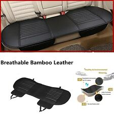 1X Breathable Bamboo Charcoal Car Rear Chair Seat Mat - Black 54.3*19.3 inches