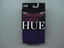 NWT Women's Hue Flat Knit Sweater Tights Size S/M Aubergine #844C