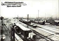 Karl-Marx-Stadt Chemnitz DDR Sonder-AK 125 Jahre Eisenbahn Güterzug Bahnhof s/w