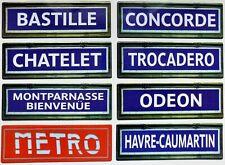 Plaque /Émaill/ée Inscrivez sorties de m/étro Publicit/é Signes En M/étal 20X30 cm