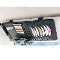 Car New Sun Visor Sunshade CD DVD Holder Storage Case Sleeve Wallet Clips Black