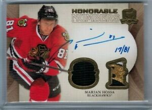 11/12 Upper Deck The Cup Marian Hossa Honorable Numbers Patch #'ed 17/81