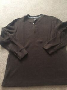 Boys Green Long sleeve Henley Top  Old Navy Size L GENTLY  Used