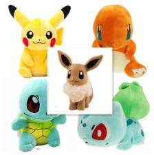 5PCS Pokemon Plush Toys Pikachu Bulbasaur Squirtle Charmander Eevee Action Set