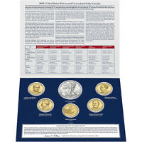 2013 W US Mint Set With Unc Silver Dollar, Native American Golden + 4 Presidents