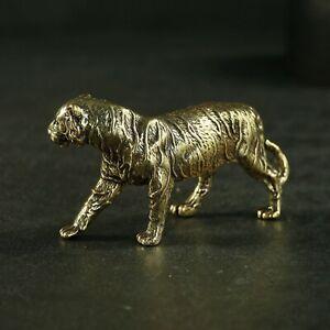 animal  tiger Tea pet Decoration Antique   brass statue meditation copper seat l