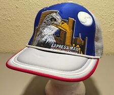 Rare Vtg 1980s USPS Express Mail Next Day Service ADVERTISING Hat Cap SNAPBACK
