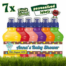 7 x personalisiert Babyparty obst-shooting Etiketten Flasche Aufkleber