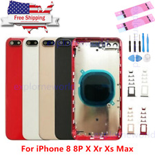 New iPhone 8 8P X Xr Xs Xs Max Back Rear Glass Housing Battery Cover & LOGO Lot