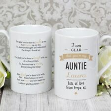 PERSONALISED AUNTIE MUG CUP - Auntie Gift With Sentimental Poem