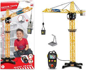 Dickie Toys 203462411 Giant Crane elektrischer Spielzeug Kran ferngesteuert