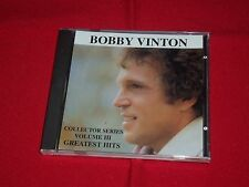BOBBY VINTON Collector Series Volume III (3) Greatest Hits-New, Still Sealed CD