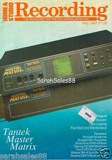 1987 Tantek Master Matrix for M4100 M4200, Roland DEP3 & Toa 310D Effects Report