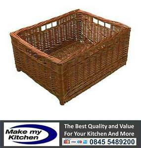 Set of 2 Kitchen Unit Wicker Baskets to Suits 450mm & 500mm Units