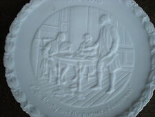Fenton White Life Liberty the Pursuit of Happiness Collectors Plate 1776-1976