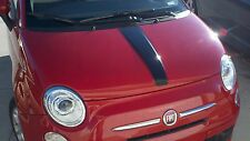 2011-2014 FIAT 500 CENTER HOOD STRIPE WITH PINSTRIPES DECALS STICKERS
