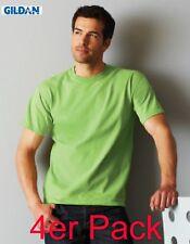 4 er Set GILDAN T-Shirts Ultra 195 g/m²   S bis 5XL (XXXXXL)