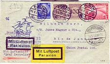Germany 1933 7th So. Amer Flight franked w/1mk Zepp