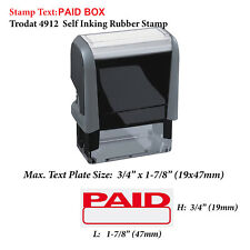 Paid Box - Trodat 4912 Self Inking Rubber Stamp