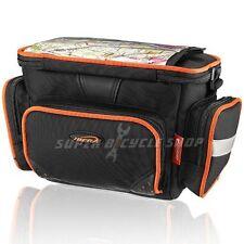 IBERA PakRak Bike Handlebar Mini Camera Pack With Clear Map Sleeve