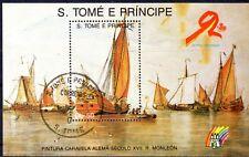 0468+ BLOC S.TOME E PRINCIPE BATEAU  CARAVELLE N°1