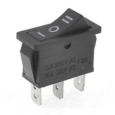 AC15A/250V 20A/125V 3 Pin SPDT ON-OFF-ON 3 Position Snap Rocker Switch D2Q6