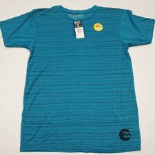New listing NWT Billabong Men's Blue Teal Heather Skulldrag Surf T-Shirt Medium New With Tag