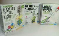 LOT OF 3 Green Creativity, Green Science Kids Science Kits, Green Rocket....