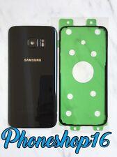 Original Samsung GALAXY S7 G930F Akkudeckel Deckel Backcover Schwarz + Kleber