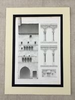 1857 Antique Print French Romanesque Architecture Provincial France Cluny