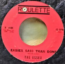 The Essex Easier Said Than Done Teen Girl Group 45 Hit ShinyVG Plays Well Nice B