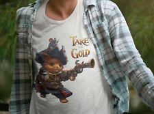 Cat Pirate T-Shirt with character from Take the Gold card game (Size XL)