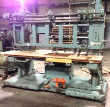 BM Root 9ft Long Multi Head Woodworking Vickers Hydraulic Drill Head Press Unit