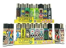20 Ct Bundle CLIPPER LIGHTERS Full Size Refillable Mix Color Different Styles