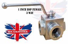 "1 in (ca. 2.54 cm) 3Way Idraulico BSP Donna spegnimento VALVOLA A SFERA 1"" BSP-DN25-PN315"