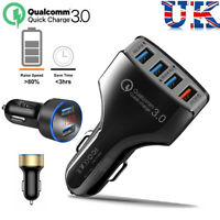 4 Port Fast Power QC USB In Car Charger Cigarette Lighter Adapter iPhone Samsung
