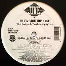 "HI-FIVE/NUTTIN' NYCE - What Can I Say To You (To Justify My Love) (12"") (VG/VG)"
